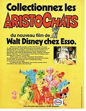 PUBLICITE ADVERTISING 0117  1971  Esso   Walt Disney les Aristochats 2