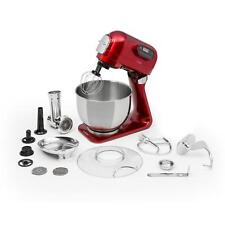 Robot de cuisine ménager mulitfonction 5L 5 vitesses + hachoir 4-en-1 - rouge