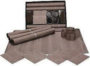 KitchenWorthy 12 Piece Geometric Table Setting  Mats Coasters Rings NEW IN BOX