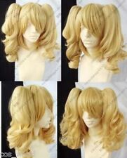 Blonde Mixed COSPLAY Split Type Anime WIG And With Two Pigtails