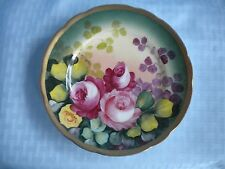 Vintage Hand Painted Austrian Plate - Signed Dussons