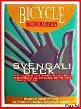 Magic Trick. Bicycle Svengali Deck. Street Magic. RED