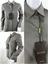 GUCCI WOMEN'S BEIGE CLASSIC SHIRT  Sz IT 36 ,UK 4, XXS,
