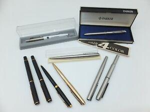 S11 Konvolut 9 x Parker Schreibset Kuli Kugelschreiber Füller teils Werbung