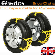"Chameleon Wheel Snow Chains - 13 - 19"" 165mm - 265mm - Suitable for 2 Wheels"