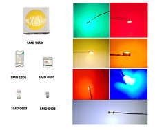 SMD LED 0402 0603 0805 1206 5050 Superhelle LEDs verschiedene Farben zur Auswahl