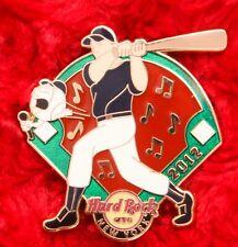 Hard Rock Cafe Pin New York Baseball Player diamond hat lapel logo uniform