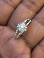 0,77 Cts Runden Brillanten Geschliffenen Diamanten Verlobungsring In 14K Gold