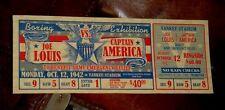 "CUSTOM CAPTAIN AMERICA TFA VS. BOXER JOE LOUIS ""1942"" BOXING EXHIBITION TICKET"