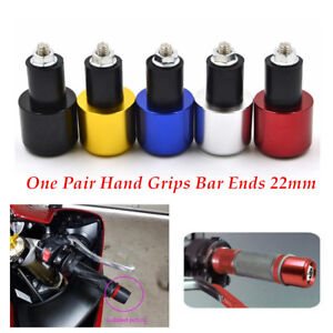 "7/8"" Aluminum Motorcycle Handle Bar Ends Plug Grips End Cap Anti-Vibration 1pair"