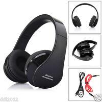 Foldable Wireless Bluetooth Stereo headset headband Handsfree Headphones Mic NEW