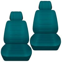 Fits 2012-2019 Kia Sportage  front set car seat covers    solid teal