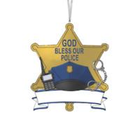 PERSONALIZED POLICE LAW ENFORCEMENT ORNAMENT BY KURT ADLER