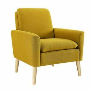 Belleze Allston Wingback Accent Chair - Yellow