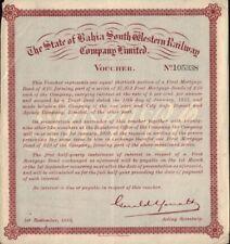 BRAZIL The State of Bahia South Western Railway Company Ltd - Voucher dd 1918