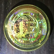 LEALANA FUNDED .10 BTC Physical Bitcoin Rare 2013 Brass series 2 like CASASCIUS