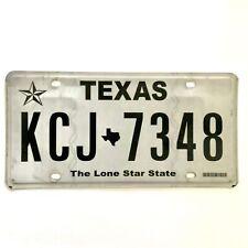Untagged United States Texas Lone Star Passenger License Plate KCJ 7348