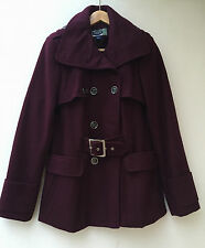 Green Envy US Designer Luxe Winter WOOL Coat Size M/10, 12 AU RRP $299. 70% Off