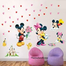 Mickey Minnie Mouse Love Wall Stickers REMOVABLE Decor Nursery Childrens room