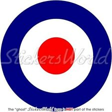 RAF Royal Air Force Type D Aircraft Roundel MOD Target UK 100mm Sticker Decal