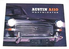 TRES RARE CATALOGUE AUSTIN A110 WESTMINSTER : AUTHENTIQUE - EN FRANÇAIS - 1961
