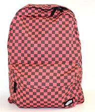 Vans Off The Wall Checkered Outlet Backpack Bookbag Faded Neon Red Check New NWT