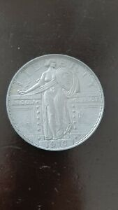 3 Inch Metal Medallion like a 1916 Bare Breasted Standing Liberty Quarter