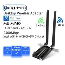 WiFi 6 Network Card PC PCI Adapter Intel AX200 2400Mbps 802.11ac/ax 2.4&5.8GHZ