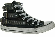 CONVERSE LIMITED EDITION Black Buckle Studded Trainers, Unisex UK 4.5 EU 37