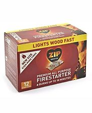 Zip Premium All Purpose Wrapped Fire Starter For BBQ & Wood Stoves (12 Pack)