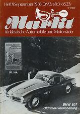 6243OM Oldtimer Markt 1983 9/83 Stutz BMW 507 Delahaye BMW Tatra 600 Tatraplan