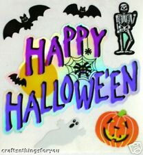 Sandylion Vntg RaRe Happy Halloween Scrapbooking Stickers. T25 *3 Squares*