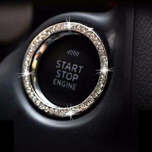 Auto Car SUV Decorative Silver Accessories Button Start Switch Diamond Ring 1x