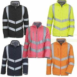 Kensington Hi Vis Viz Yoko Reflective Jacket Ladies Men Riding PPE Safety HV706