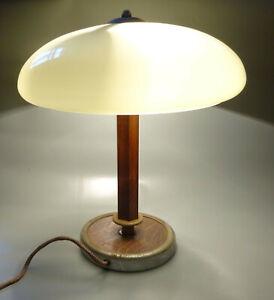 Vintage Lampe de Table Bureau UFO Tue-Mouche Art Déco Lengefeld 1950er Bauhaus