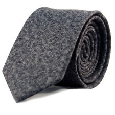 New Luxury Gentlemens Speckled Grey Skinny Country Tie - Woven Wool Style