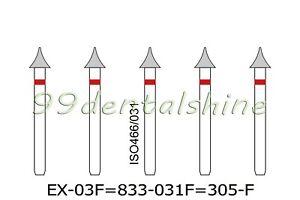 10Pcs Dental Diamond Burs FG Interproximal Enamel Reduction 833-031F/EX-03F Fine