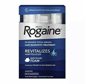 Mens Rogaine Foam for Hair Loss and Hair Regrowth Topical Treatment Exp 2023