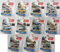 Hot Wheels Star Wars Carships Complete Set of 11 Great for Tracks NEW 1/64