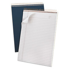 Ampad Gold Fibre Wirebound Writing Pad w/Cover 8 1/2 x 11 3/4 White Navy Cover