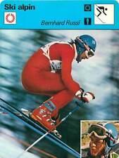 FICHE CARD: Bernhard Russi Suisse Alpine ski racer Alpine skiing SKI ALPIN 1970s