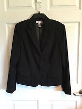 Nine & Company,By Nine West, Woman's 14 Black Blazer, Fully Lined, Long Sleeve