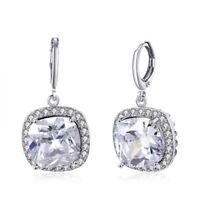 Minxwinx Sterling Silver Drop Dangle Solitaire Stud CZ Earrings Cubic Zirconias