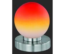 R5400-18 Tischleuchte orange / rot rund mit Touch me Nachttischleuchte Lampe