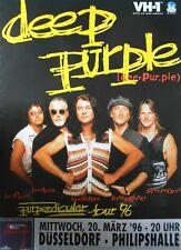 DEEP PURPLE  1996  DÜSSELDORF -  orig. Concert Poster - Konzert Plakat  A1  NEU