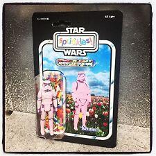 Custom Star Wars Vintage Pink Sprinkles Stromtrooper Figure empire jedi vader