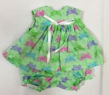 Mint Rabbit Print Sleeveless Dress to fit Deluxe Reading Baby Boo Doll
