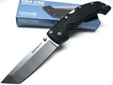 COLD STEEL Black Handle Large VOYAGER Straight TANTO POINT Folding Knife! 29TLCT