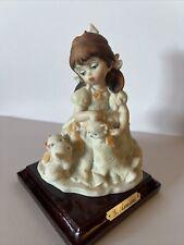 Giuseppe Armani Little Treasures Girl With 3 Kittens Figurine