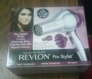 Revlon Model RV484 Ion 1875 Hair Dryer Ionic Ceramic Pro Stylist w/Diffuser